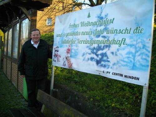 Auf dem Photo vor der  Info-Tafel: Wilfried Gerkensmeier