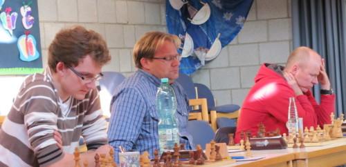 Foto: Die Liemer Hintermannschaft -von links Marvin Karsunke, Andreas Hoffmann und Stephan Hohn- war der Garant für den Erfolg