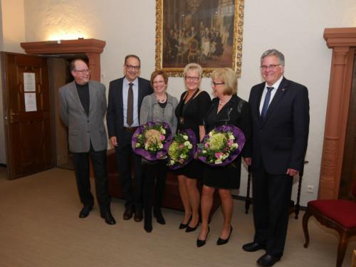 Von links: Petra Ellermeier, Otto W. Pahn, Iris Becker, Andreas Prohoffnik, Ulrike Grotjahn, Wilfried Thiel