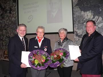 v.l.: Bürgermeister Dr. Reiner Austermann, Karin Schäfer, Marlis Nitschke, Udo Golabeck