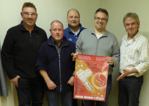 Das Orgateam von links nach rechts:  Stefan Hartmann, Andreas Höltke, Friedrich-Wilhelm Niere, Falk Niehage und Frank Niehage
