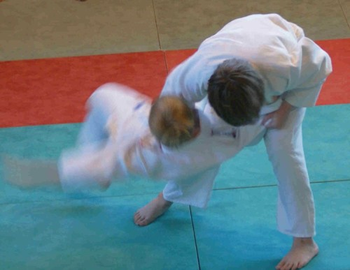 Foto: Judo-Kampfszene.