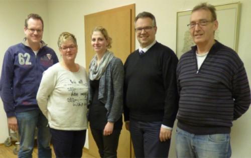 Michael Kuhlemann, Karin und Michaela Top, Falk Niehage und Albert Top freuen sich auf die Aufgaben 2016.