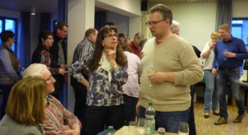 Sonja Best und Falk Niehage im Gspräch mit Gästen