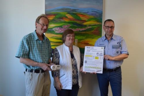 von links Stephan Culemann, BUND, Bürgermeisterin Monika Rehmert und Mitarbeiter Andreas Pieper