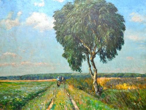 """Hermann Bahner, """"Sommertag"""", Öl/LW., um 1900"""
