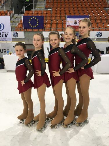 Leistungsläufer von links: Lina Hajesch,Alina Lehmeyer,Lea Hilker,Frauke Baldig und Cora Bögeholz