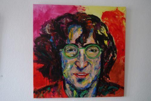 John Lennon-Portrait von Eckhard. Naujoks im Blomberger Rathaus