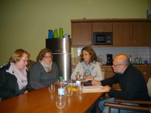 Auf dem Photo von l. nach r. Christine Heidsiek, Iris Schön, Heidi Wenzel-Lagemann, Manfred Rehse