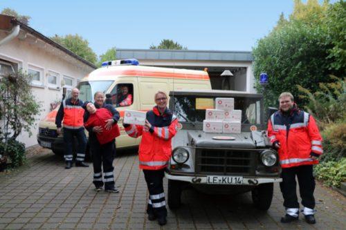 Zeigen ihr Ehrenamt in Bad Salzuflen – die Johanniter-Helfer (v.l.) Wolfgang Filges, Ulrich Bultmann, Marina Bultmann, Tanja Malz und Kai Arnsmeier.