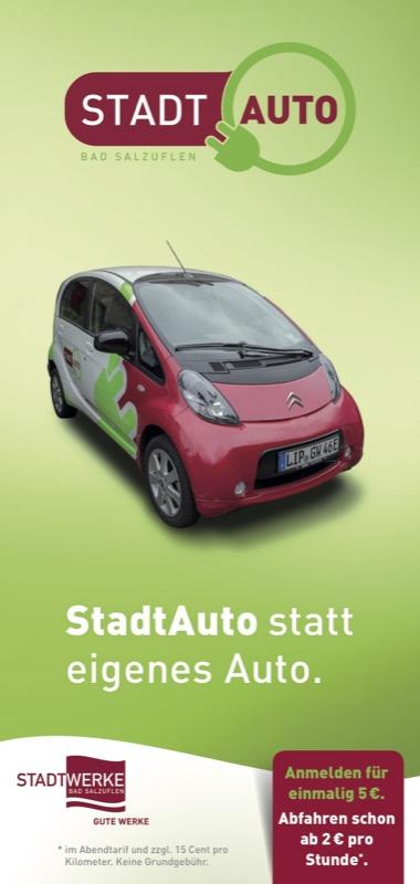 stadtwerke bieten carsharing-elektroauto an | lippe news
